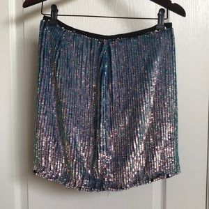 RW & Co Sequin Mini Skirt